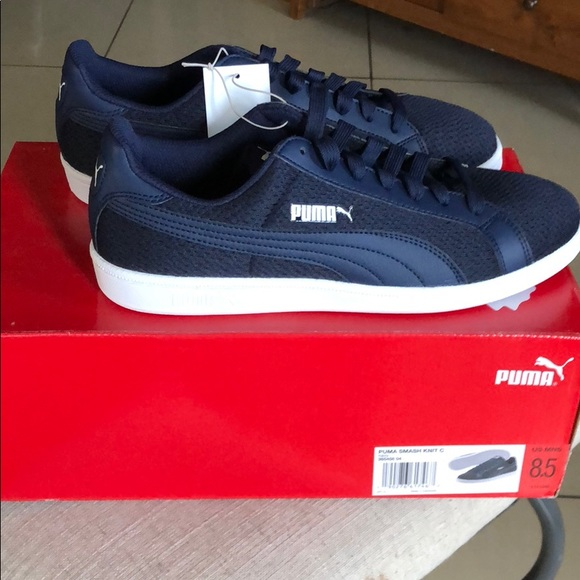 336b3dd8a01 Puma Shoes | Mens Navy Smash Knit C | Poshmark